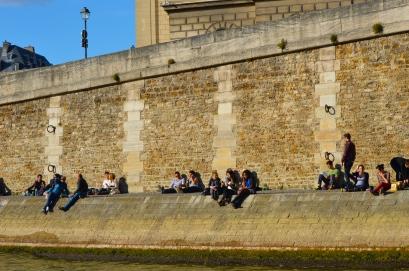 Seine sitting